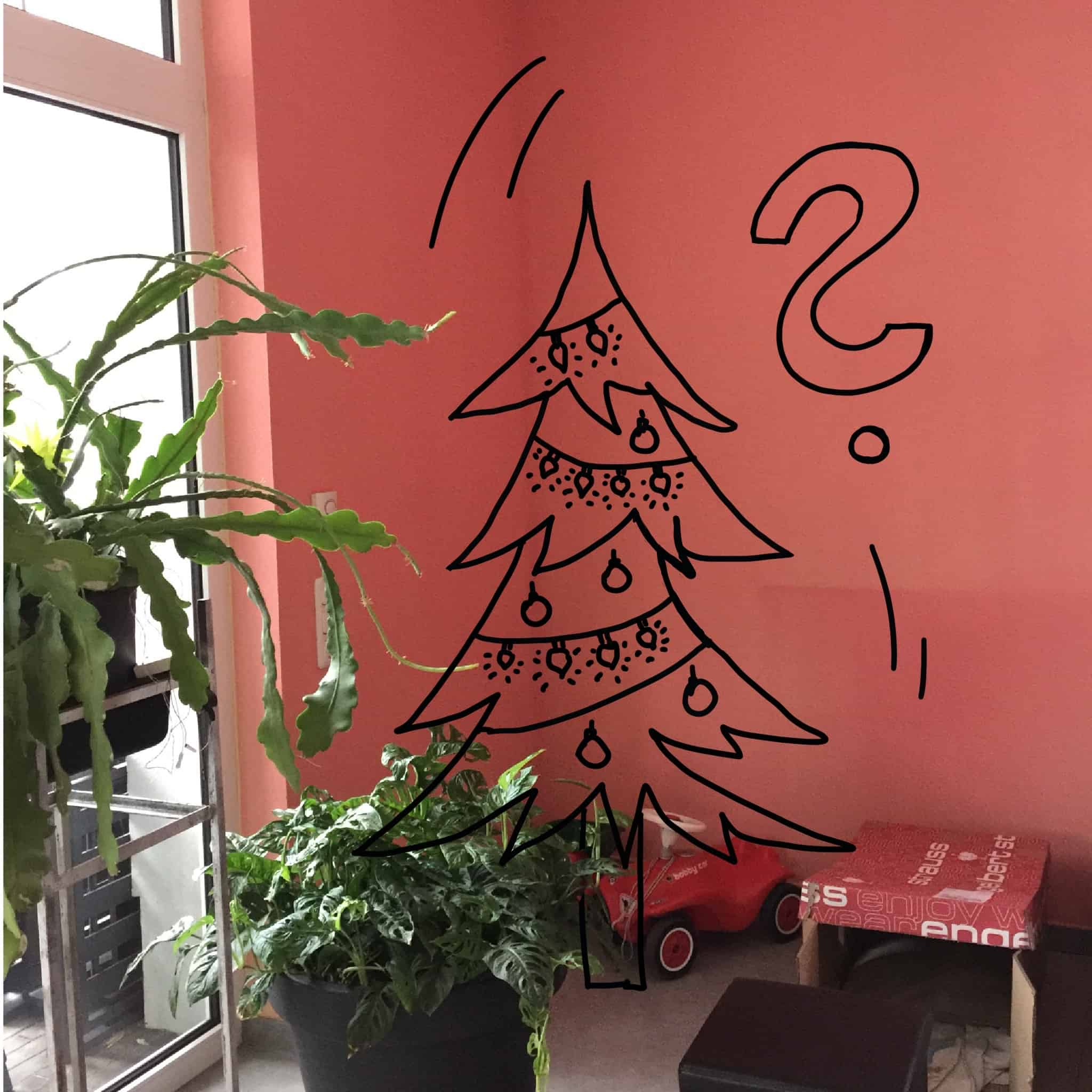 Weihnachtsbaum Ersatz